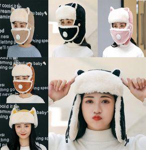 Women Hats Winter Warm Earmuffs Thicken Ear protection Hat Female Faux Fur Bomber Hats Fashion Ear Protect Solid Cap DB167