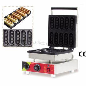 Small Baker Small Baker Machine en acier inoxydable Mini doigt Mini Gaufre Gaufre 10pcs Moules 220V 110V 1500w1