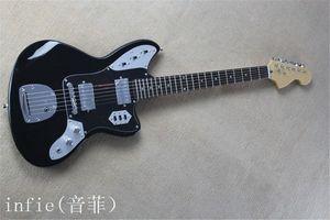 الشحن مجانا!! جديد وصول JAGUAR الغيتار الكهربائي أسود في أسود