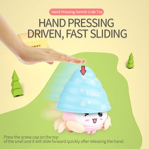 Mini Cute Hermit crab Toy Baby Early Educational Toy Mini Hand pressing Hermit crab Toys Kid Baby Christmas Gifts