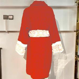 Casal de luxo cascalho algodão unisex pijamas homens vestes de alta qualidade designer cardigan vestido sleepwear home desgaste vestes