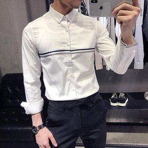 Männer Lässige Hemden Marke Herren Kleid Camisa Masculina Slim Fit Langarm Hemd High Qualität Weiß Männer Business Formale Soziales