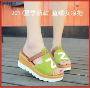 2020 New Summer Fashion Thick Heeled High Heeled Sandals Womens Thick Heeled Platform Large Size Fish Toe Women Sandals And Sli QPPc#