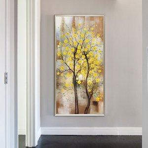 Handmake Abstract 3D flower tree Oil Paintings on Canvas Hand-Painted Flower oil painting Home Decoration Abstract Artwork Art LJ201128