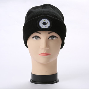 Bluetooth LED Beanie Hat with Light Built-in Stereo Speaker and Mic USB Rechargeable Headlamp Headphone Torch Music Hat Gifts