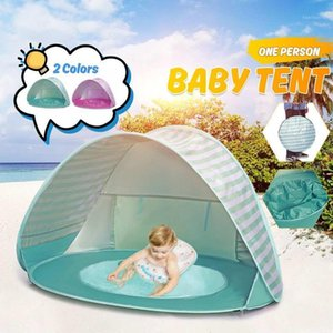 Camping Hiking Beach Uv-proof Portable Tent Sun Shelter Infant Baby Kid Children Toy Tent Pool Shelter Water Playing Awning1