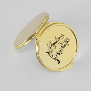 Hot Sale Golden Color Customized Compact Makeup Mirror