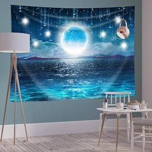 150 * 200 cm Polyester Tapestries Soggiorno Decor Decor Background Starry Home Camera da letto Murali Stampa Stampa Paesaggio Piante Tappezzeria DHD2679