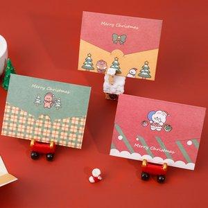 Noel Kart Karikatür Merry Christmas Kağıt Zarf Mesaj Kartı Tebrik Kartı Mektubu Sabit Hediye HWA1979