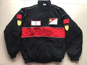 F1 Racing Anzug Vintage Radfahren Anzug Jacke Baumwolljacke Full Bestickte Motorrad Radfahrenjacke