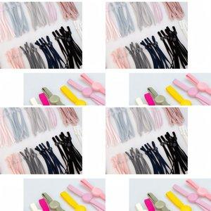 Грады цепные висит ушной веревочка против скольжения маска удлинительные удлинители эластичной шляпы полосы красочные регулируемые ткань аксессуары 0 12WF B2