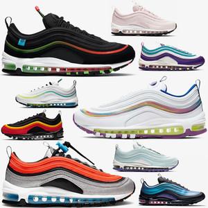 Nike air max 97 97s airmax vapormax Chaussures de marque pour hommes pull tab chaussures de course à pied femme triple blanc blanc noir plage sud chaussures de sport