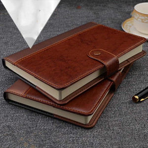 Agenda 2021 Retro Vintage PU Leather Cover Notebook Note Book Traveler Notepad Stationery Supplies A5 A6 B5