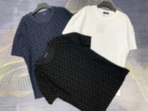 Mans Tasarımcı İlkbahar Yaz Jakarlı Örme Harfleri Tee T Gömlek Moda Hoodies Erkek Kadın Rahat Pamuk T Shirt Siyah Beyaz