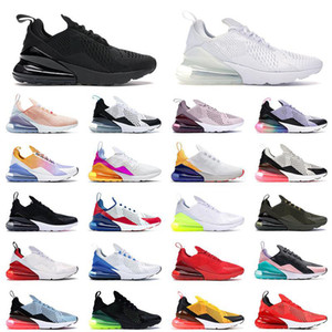 nike air max airmax 270 270 Spor Koşu Ayakkabıları Üçlü Siyah Tüm Beyaz Kadın Erkek En Kaliteli Yaz Degrade Fotoğraf Mavi Sıcak Punch 270s Eğitmenler Spor ayakkabılar BOYUT 36-45