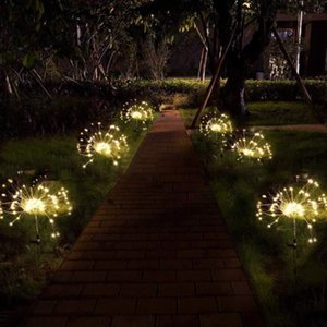 NEW Solar Lawn dandelion Garland Decorative Light Copper Wire Operated Christmas Wedding Party Decoration LED String Fairy Lights GWE1958