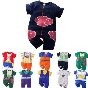 0-24M Baby Romper Garçon Anime Luffy Akatsuki Zoro Pre Body Body Cheveux Nouveau-né Costume Vêtements d'été Toddler Onesie Combinaison 201113
