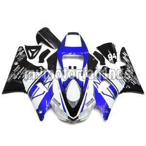 Kit di carenatura per il 1998 Yamaha YZF R1 1999 carrozzeria YZF1000 98 99 Cornici per il corpo - Blu bianco nero