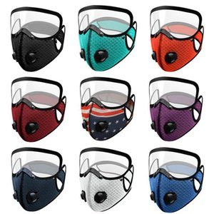 Expédition DHD954 Masque 2 Drapeau Mode Protection respiratoire Masque Masque anti-poussière visage respirant Valve 1 Face Visage DHL Cyclisme pleine Fre Fhrh