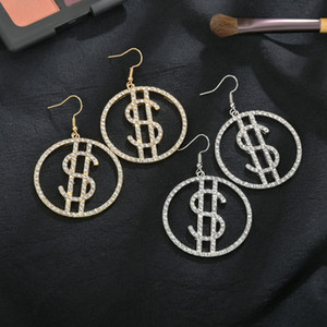 New temperament exaggerated popular letter women's long fashion online personalized and earrings dunk dollar earrings MsP5p