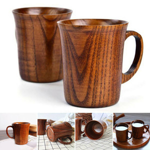 Natural Jujube Wood Cup Handmade Wooden Coffee Beer Mugs Breakfast Beer Milk Drinkware Tea Cup Home Decoration