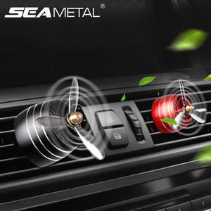 Perfume SEAMetal coche ambientador de aire del difusor LED de salida de ventilación del clip Automóviles decoración hélice fragancia olor ornamento o0xX #