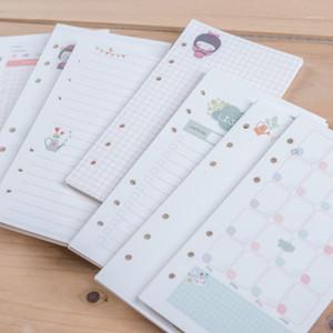 HARHIA Sevimli Kız Serisi Dizüstü Kağıtları Kağıtları A5 A6 Günlüğü Renk İç Çekirdek Planlayıcısı Dolgu Kağıdı İç Sayfa Hediye için ForfiloFax1