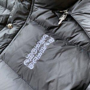 Winter Tide Brand Ch Crosin Sanskrit Embroidery Horseshoe Detachable Hooded Down Jacket for Men It8q