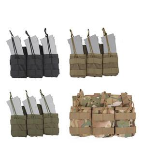 Airsoft Gear Molle Сумка Жилет Аксессуар Камуфляж Пакет Картриджей Clip Carrier Ammo Holder Tactical Mag 7.62 Triple Magazine Pouch No11-545