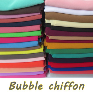 15pcs lot High Quality Plain Bubble Chiffon Shawls Headbands Popular Hijab Summer Muslim Scarfs 201021