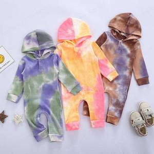 Bebek Boys Kız Doğum Kapşonlu Romper Batik Giyim Bodysuit Uzun Kollu Sonbahar Tulumlar 2020 Yeni Moda Butik Tasarımcısı Giyim