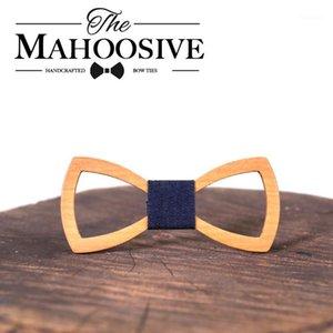 Mahoosive Padre Niños Niños Arco Corbata Corbata Corbata Corbata Gravatas Corbatas Butterfly Cravat Mens de madera Bow Bow Bouts Combo1