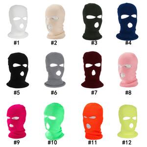 3 fori Full Face Mask Ski Mask Cappello invernale del cappuccio della balaclava del motociclo della motocicletta del casco Casco integrale Army Tactical Mask