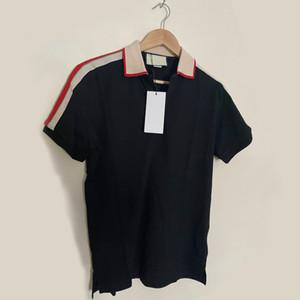 2019 أوروبا باريس المرقعة الرجال الزى أزياء رجالي مصمم تي شيرت عارضة الرجال الملابس القطن قميص الأزياء بولو تي