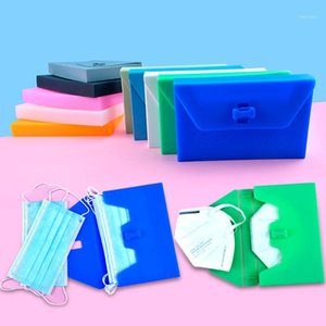 35@ Portable Face Masks Silica Gel Organizer Dustproof And Moisture-proof Cleaning Storage Cover Holder Case Storage Bag1