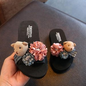New Style Summer Baby Slipper Cute Cartoon Bear Sandals Fashion Parent And Child Mother Daughter Beach Child Slippers Anti-slip