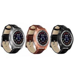 R68 Bluetooth Leather strap Smart Watch Men Pedometer Sleep Monitor Fitness Activity Tracker Reminder Reloj Inteligente
