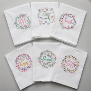 De alta qualidade bordado tea toalhas de algodão guardanapos Guardanapos Home Kitchen Servetten casamento Copa do pano Wine guardanapos toalha 45 * 70 centímetros FWD2806