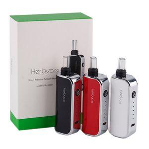 Original Airis Herbva X 3 in 1 Wax Herb Vaporizer Starter Kits Water Bubbler Glass 1800mah Vape Pen With Ceramic Heating Chamber