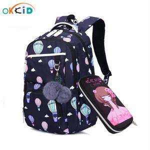 OKKID sacchetti di scuola dei bambini per la Russia le ragazze della scuola elementare zaino carino stampa fiore rosa dello zaino libro ragazza bag C1019