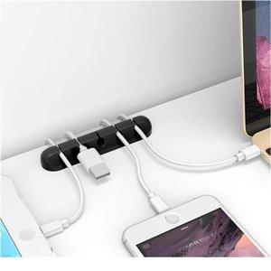 Кабельные клипы Организатор Sile USB-кабеля Намотарь Гибкие кабельные Клипы Клипы Держатель для мыши Наушники Qylaes