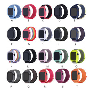 Case + Band For iWatch Series 3 2 1 38MM 42MM Nylon Soft Breathable Replacement Strap for iWatch Band series 4 5 6 SE 40MM 44MM