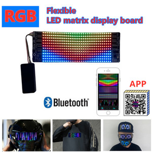 LED Full-Color Flexible Matrix Display board, 12*36RGB Advertising Screen, Bluetooth APP Mobile Phone Editing Light Up Face mask