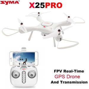 SYMA X25pro GPS DRON WIFI FPV With 720P HD Camera or Real-time Fpv Camera drone 6Axis Altitude Hold RC Quadcopter RTF