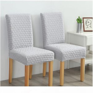 1 4 6Pcs Thicken Knitted Jacquard Cover For Restaurant Size Covering Universal Banquet Hotel Chair Weddings Slipcover