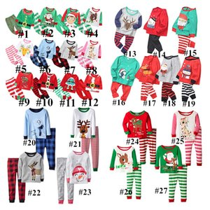 27Styles Christmas Kids Pajamas Set Tracksuit Two Pieces Outfits Santa Claus Elk Striped Xmas Pajamas Suits Sets Baby Home Clothing E92705