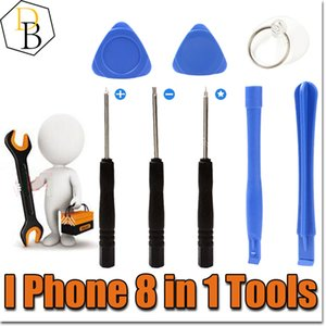 IPhone Reparing Tools 8 in 1 Repair Pry Kit Opening Tools Pentalobe For Iphone 7 plus Torx Slotted screwdriver For Samsung moblie phone