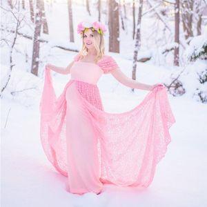 Cap Sleeve Lace Evening Dresses with Overskirt Women Maternity Dress Pregant Photograph Gowns vestido de novia