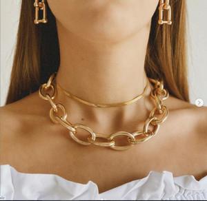 Mulheres gargantilha colar gótico multi camada cruz pingente gargantilha colar cor ouro polido cadeia de cadeia de colar mulheres jóias