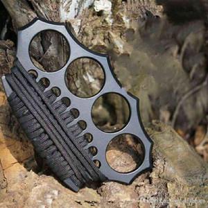 Высококачественные азановые латунные костяшки костястые курицы, четыре пальца железо, интегрированная сталь формирования EDC Tools Бесплатная доставка